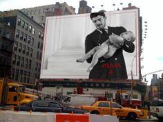 #billboard #Isaia #newyork #man #elegant #suit #baby