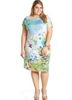 Vestido Estampado Manga Curta - Marguerite