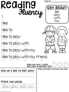 Reading Fluency & Comprehension - All Students Can Shine