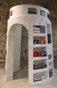 Pop-up  store/kiosk  design. Perhaps adding a door for storage and transport, think of using your outer walls as merchandising display! PopUp Republic
