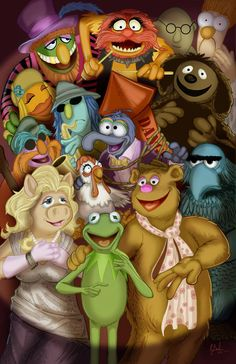The Muppets by KileyBeecher on DeviantArt Classic Cartoon Characters, Cartoon Tv, Classic Cartoons, Mickey Mouse Pictures, Uk Tv Shows, The Muppet Show, Muppet Babies, Jim Henson, Illustrations