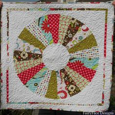 Dresden finished mini quilt    Acolchado