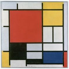 Mondriaan (1872 – 1944)...Composition with Large Red Plane, Yellow, Black, Grey and Blue