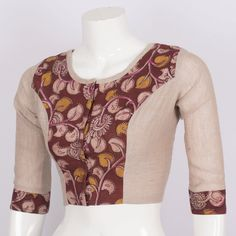 Tvaksati Hand Crafted Kalamkari Cotton Blouse 10008574 - AVISHYA.COM