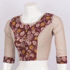 Tvaksati Hand Crafted Kalamkari Cotton Blouse 10008574 - AVISHYA.COM
