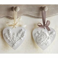 Scented Clay Hearts - From Lakeland
