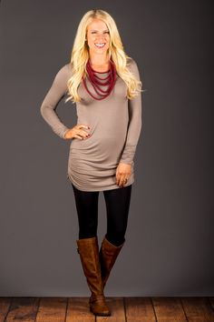 You know how all season long you search for that perfect tunic? This fun, long…