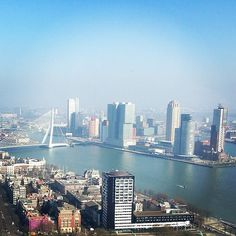 Kop van Zuid, Hotel New York vanaf Euromast. (Rotterdam, the Netherlands)