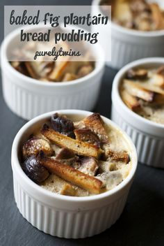This Sweet Plantain Bread Pudding boasts a soft and creamy center with ...