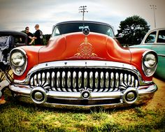 Low rider Buick - love the grills on old cars