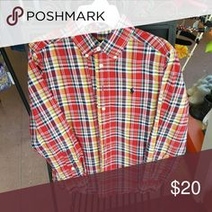Ralph Lauren button down shirt Button down shirt Red,Yellow & White  plaid Ralph Lauren Shirts & Tops Button Down Shirts