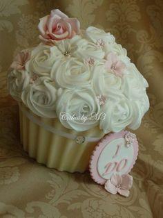 """I DO"" Giant Cupcake"