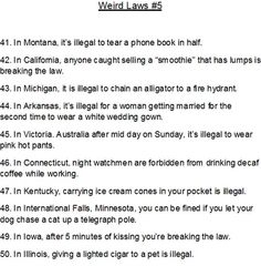 Weird Laws #5