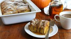 Ideally suited for a special-occasion brunch, this indulgent pumpkin pancake bake is easy to make ahead of time.