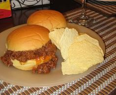 My famous Sloppy Joes! Mmmm! Best recipe ever.