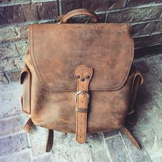 Anyone know the airspeed velocity of a full grain leather backpack? Here's Suzy Barrera's 'Holy Grail,' the Simple Backpack in Tobacco.