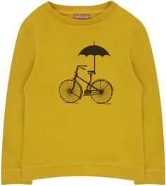 Shop The Emile Et Ida Boys Bicycle Sweatshirt In Yellow At Elias & Grace. Browse The Cutest Boys Clothes From Emile Et Ida, Handpicked By Elias & Grace