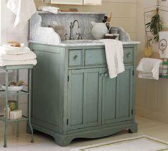 Lucca High Backsplash Single Sink Console - Blue