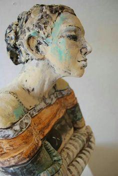 Figurative ceramic sculpture by Marni Gable - http://www.marnigable.com/