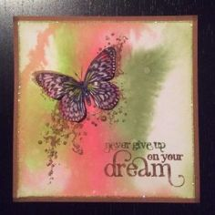 Visible Image stamps - Never Give Up On Your Dream - Butterfly - Hazel Eaton