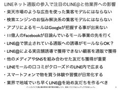 LINEネット通販のモール参入で注目のLINE@と業界への影響 http://yokotashurin.com/sns/line-mall.html