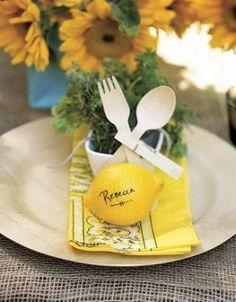 place card lemon... love!