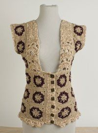 Tutorial on how to design your own vest--the sample uses a granny square pattern.