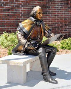 George Lundeen - The Astronaut - Portrait of Jack Swigert, bronze, Life-size. Bronze Sculpture, Sculpture Art, Garden Sculpture, Leather Backpack, Book Art, Statues, Fine Art, Portrait, Book Shops