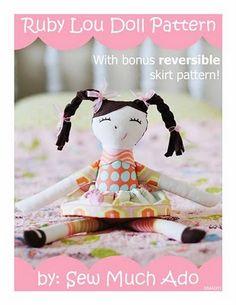 Ruby Lou Doll PDF Pattern by Sew Much Ado