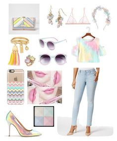 """""""Pastel rainbow shine"""" by sarahcanavan ❤ liked on Polyvore featuring River Island, Casetify, Anastasia Beverly Hills, Calvin Klein Jeans, Chloé, Mixit, La Perla, Nadia Minkoff, Tildon and Givenchy"""
