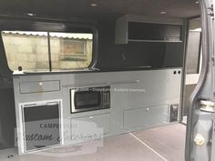 Camper interior gallery showing our range of VW interiors from Kustom Interiors, based in Cornwall Sprinter Camper, Bus Camper, Camper Trailers, General Motors, Land Rover Defender, Campervan Interior, Campervan Ideas, Vw Camper Conversions, Vw Crafter