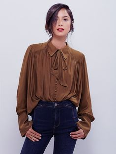 Free People Modern Muse Tie Front Top at Free People Clothing Boutique