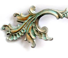 """The Decorated House: ~ The """"Secret"""" Tutorial ... How To Paint Turquoise Patina .... French Drawer Pulls"""