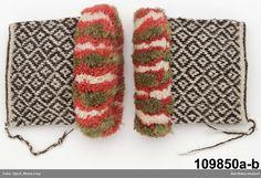 Tvåändsstickade ärmmuddar från Rättvik. Crochet Mittens, Knitted Gloves, Knitting Socks, Hand Knitting, Knit Crochet, Knit Socks, Wrist Warmers, How To Purl Knit, Vintage Knitting