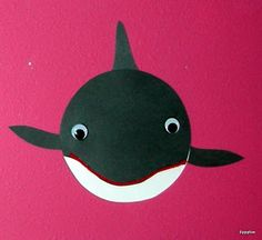 crafts making a whale | To make these adorable orcas, I cut out a circle from black paper ...