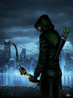 The Arrow by on deviantART Fan art of Oliver Queen from The Arrow, Supergirl, Green Arrow, Dc Comics Peliculas, Oliver Queen Arrow, Arrow Tv Series, Arrow Serie, Arrow Black Canary, Stephen Amell Arrow