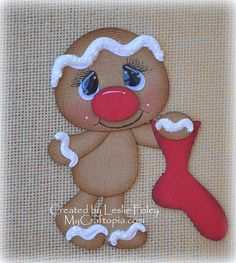 Ginger with Stocking Premade Scrapbooking by MyCraftopia on Etsy, $4.95