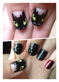 This Is My How To Train Your Dragon Nail Art I Really Love The