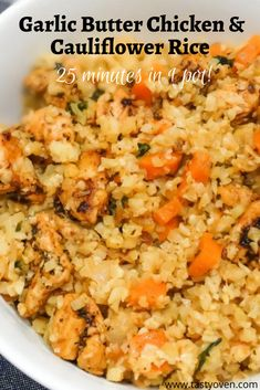 Real Food Recipes, Diet Recipes, Chicken Recipes, Cooking Recipes, Healthy Recipes, Easy Cauliflower Recipes, Casseroles Healthy, Cauliflower Rice Casserole, Healthy One Pot Meals