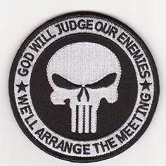 GOD WILL JUDGE OUR ENEMIES PVC multicam OD totenkopf morale aufnäher hook patch
