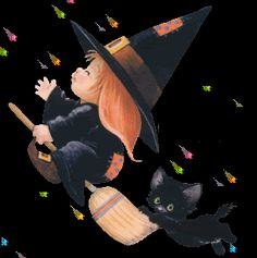 Halloween Facebook Cover, Halloween Gif, Halloween Quotes, Vintage Halloween, Happy Halloween, Witch Pictures, Gif Pictures, Cute Pictures, Gifs