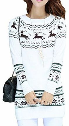 Yasong Women Ladies Girls Long Sleeve Crew Neck Christmas Jumper Pullover Sweater UK 6-12 White No description (Barcode EAN = 0707581285122). http://www.comparestoreprices.co.uk/kids-clothes--girls/yasong-women-ladies-girls-long-sleeve-crew-neck-christmas-jumper-pullover-sweater-uk-6-12-white.asp