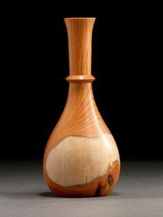 Yew wood weedpot vase.   More at Timberturner.com