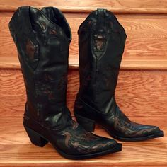 COMING SOON Blk/Brn Inlayed Rockstar Ropers Coming soon! Details and additional pics to follow! Like Now to be notified upon arrival!  Roper Shoes Heeled Boots