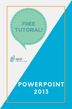 PowerPoint 2013 is the presentation program in the Microsoft Office 2013 suite that allows you to create amazing slide presentations that can integrate images, video, narration, charts, and more. Learn all about it with this free tutorial from GCFLearnFree.org.