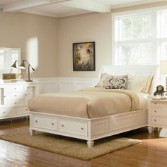 Coaster Sandy Beach Queen Sleigh Bed With Foot Board Storage