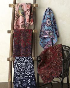 Artistically Decorated Towels by Fresco Towels at Horchow. Ooooh, I love the looks of Fresco towels!