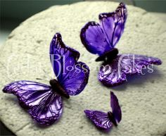 Edible butterflies – gelatin royal icing or fondant bodies, piping gel then wdible glitter on edges Cake Decorating Community - Cakes We Bake