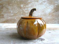 Pumpkin Jar Wheel Thrown Pottery by AntB on Etsy Grandmas cookie jar, need! click now to see more.