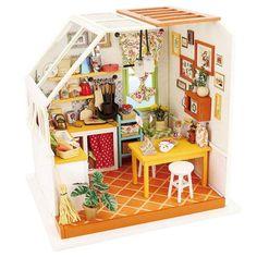 Dollhouse Kits, Wooden Dollhouse, Dollhouse Furniture, Dollhouse Miniatures, Model House Kits, Model Building Kits, Puzzles 3d, Wooden Puzzles, Wooden Gifts